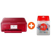 Canon PIXMA TS8052 rot Multifunktionsdrucker + CLI-571XL Value Pack 0332C005