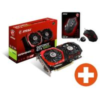 Gratis Gaming Maus + MSI GeForce GTX 1050Ti Gaming X Grafikkarte 4GB GDDR5
