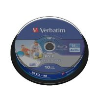 Verbatim 6x BD-R SL DL Blu-ray Disc 25GB 10er Wide Inkjet Spindel Printable
