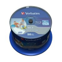 Verbatim 6x BD-R SL DL Blu-ray Disc 25GB 50er Wide Inkjet Spindel Printable