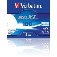 Verbatim 4x BD-R XL Blu-ray Disc 100GB 5er Jewel Case Printable