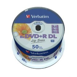 Verbatim 8x DVD+R Double Layer 8,5GB 50er Spindel Printable Bild0