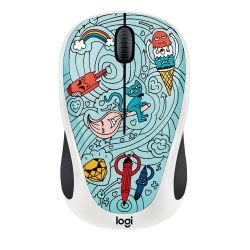 Logitech M238 Kabellose Mobile Maus Doodle Collection BAE-BEE BLUE 910-005055 Bild0