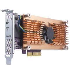 QNAP QM2 Card QM2-2S Dual-M.2-22110/2280-SATA-SSD expansion card Bild0