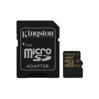 Kingston 16 GB Gold microSDHC Speicherkarte Kit (90 MB/s, Class 3, UHS-I)
