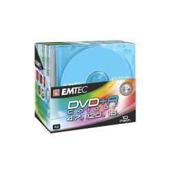 EMTEC 16x DVD+R 4,7GB Color 10er Slim Case Bild0
