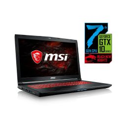 MSI GL72 7RDX-857 Gaming Notebook i7-7700HQ Full HD GTX1050 ohne Windows Bild0