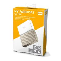 WD My Passport Ultra USB3.0 2TB 2.5zoll -Weiß/Gold
