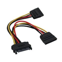 Good Connections SATA Strom-Y-Kabel 0,15m SATA Bu an 2x SATA St Bild0