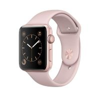 Apple Watch Series 2 42mm Aluminiumgehäuse Roségold mit Sportarmband Sandrosa