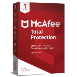 McAfee Total Protection 1 Device (Code in a Box) Bild0