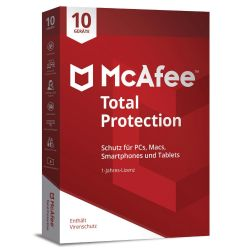 McAfee Total Protection 10 Devices (Code in a Box) Bild0