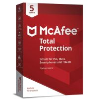 McAfee Total Protection 5 Devices (Code in a Box)