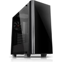 Thermaltake Core V21 Midi-Tower mATX Gehäuse schwarz, Fenster, tempered glass