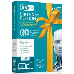 ESET Birthday Edition V2018 (2x ESET Internet Sec.+ 1x ESET Mobile Sec.) MiniBox Bild0