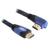 DeLOCK HDMI High Speed with Ethernet Kabel 3m St./ St. gewinkelt blau