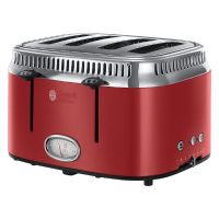 Russell Hobbs 21690-56 Retro Ribbon Red 4-Schlitz-Toaster
