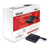 Club 3D USB 3.0 Typ-C auf VGA + USB3.0 + USB Typ-C Charging Mini Dock CSV-1532