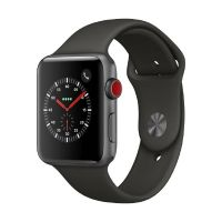 Apple Watch Series 3 LTE 42mm Aluminiumgehäuse Space Grau mit Sportarmband Grau