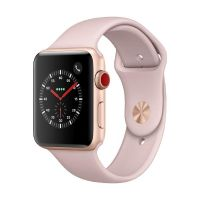 Apple Watch Series 3 LTE 42mm Aluminiumgehäuse Gold mit Sportarmband Sandrosa