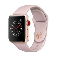 Apple Watch Series 3 LTE 38mm Aluminiumgehäuse Gold Sportarmband Sandrosa