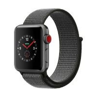 Apple Watch Series 3 LTE 38mm Aluminiumgehäuse Space Grau Sport Loop Dunkeloliv