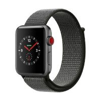 Apple Watch Series 3 LTE 42mm Aluminiumgehäuse Space Grau Sport Loop Dunkeloliv