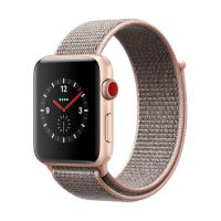 Apple Watch Series 3 LTE 42mm Aluminiumgehäuse Gold mit Sport Loop Sandrosa