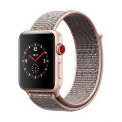 Apple Watch Series 3 LTE 42mm Aluminiumgehäuse Gold mit Sport Loop Sandrosa Bild0