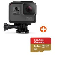 GoPro HERO6 Black Action Cam mit 64 GB Speicherkarte
