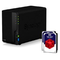 Synology Diskstation DS218+ NAS 2-Bay 4TB inkl. 2x 2TB WD RED WD20EFRX