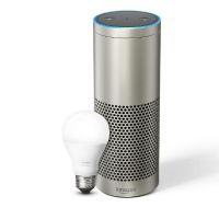 Echo Plus -Mit integriertem Smart Home-Hub (silber) - inklusive Philips Hue LED