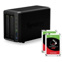 Synology DS718+ NAS System 2-Bay 8TB inkl. 2x 4TB Seagate ST4000VN008