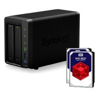 Synology Diskstation DS718+ NAS 2-Bay 12TB inkl. 2x 6TB WD RED WD60EFRX