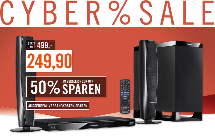 kw1220 cyberport cybersale  d27622i1 [Cybersale!] Panasonic SC BTT362EGK 2.1 3D Blu ray Heimkino System für 249€ inkl. Lieferung